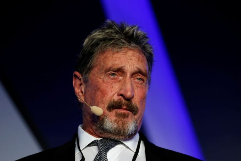 Antivirus software pioneer McAfee charged by U.S. with cryptocurrency fraud